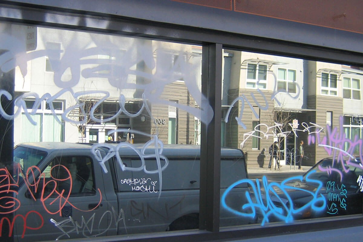 Anti Graffiti Window Film protects