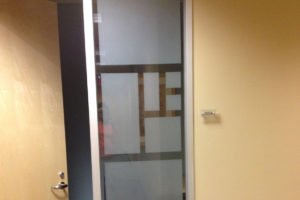 Commercial Decorative Window Film for Oakbrook business complex