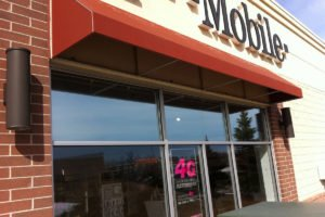 Solar control window film T-Mobile after