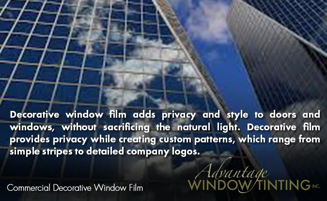 Chicago window tinting commercial decorative film